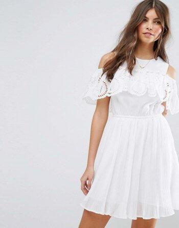 weißes Standesamt Kleid