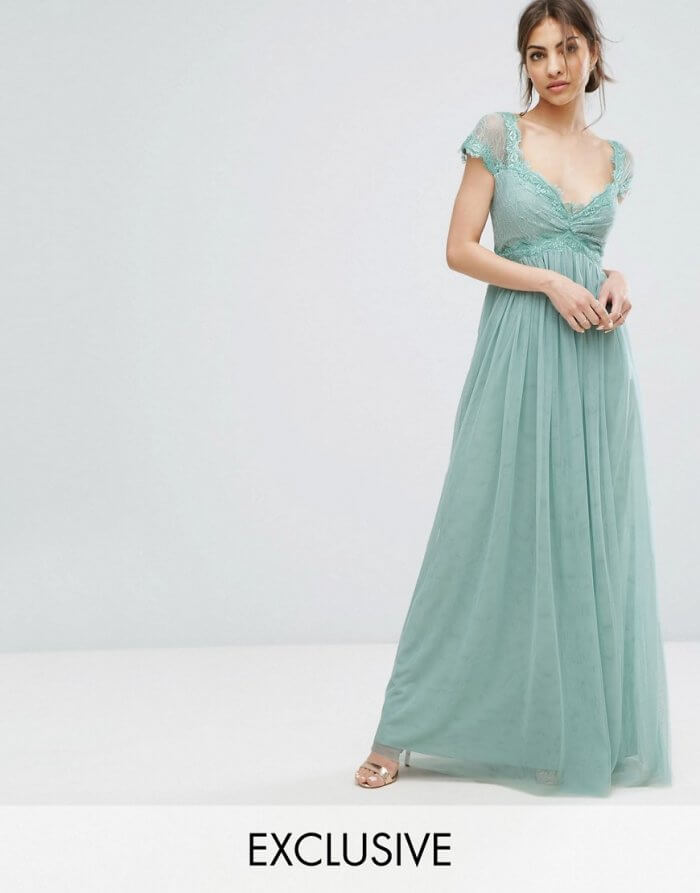 Standesamtkleid in Mint