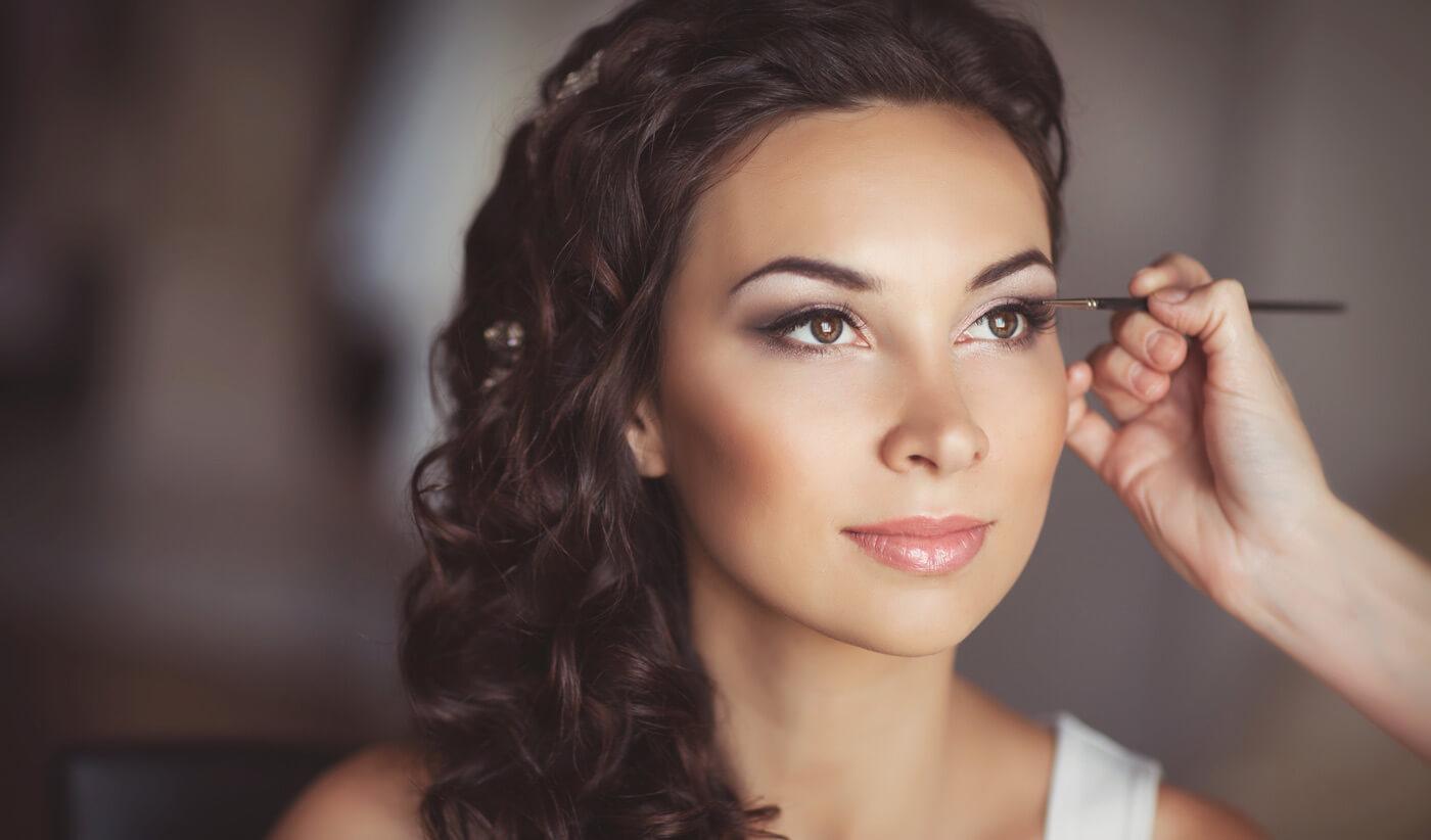 Braut Make-Up braune Augen