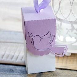 Verpackung Gastgeschenk Hochzeit Taube